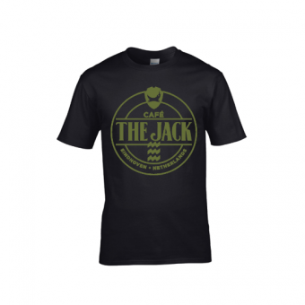 Café The Jack logo groen shirt mannen