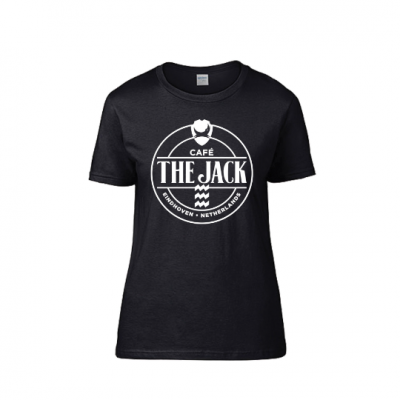 Café The Jack logo shirt vrouwen